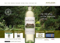 elemento da identidade dos rótulos transportado para o menu do site.  http://www.aveleda.pt/home?lang=PT