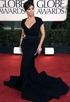 Eva Longoria, Zac Posen, 2011 Golden Globe Awards... she looks great