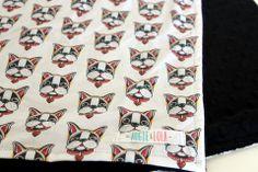 augieandlola - boston terrier blanket, boston terrier baby blanket, boston terriers