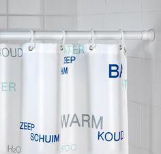 Telescoop douchestang - geschikt voor de badkuip - wit