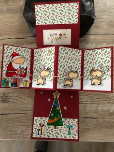 Weihnachtskarten Weihnachtsmann und Rentiere Choosing The Right Air Conditioner For Your Home Articl Christmas Cards 2018, Xmas Cards, Holiday Cards, Fancy Fold Cards, Folded Cards, Christmas Paper Crafts, Handmade Christmas, 3d Cards, Butterfly Cards