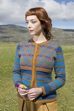 abd7d0b3 The Damsel Fly hand knitwear design by Alice Starmore from the book  Glamourie Knitting Designs,