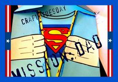 This is the perfect card for your kids to make for dad. It's easy, mess free, and super hero fun!! Cut out tie, with some fun patterned scrapbooking paper Fold a collar on a piece of paper Outline tie with black marker, after you have glued on...