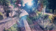 Images and videos of anime landscape Wallpapers Tumblr, Animes Wallpapers, Aesthetic Gif, Aesthetic Wallpapers, Anime Landscape, Manga Pdf, Katsura Kotonoha, Anim Gif, Gif Background