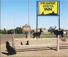 Prairie Vista Inn, in Faith, SD--hotel for the Indy Children's Museum family dino dig program
