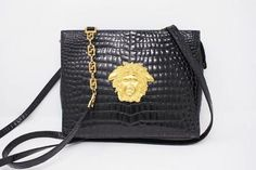afdb5cada98a9 Rare Vintage 1992 GIANNI VERSACE Bag at Rice and Beans Vintage Gianni  Versace