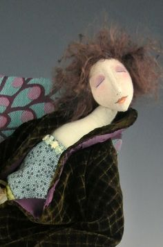 Waiting Up  Original Cloth doll designed by Cindee Moyer by cmoyer, $250.00