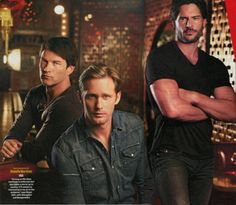 STEPHEN MOYER, ALEXANDER SKARSGÅRD AND JOE MANGANIELLO PHOTOGRAPHED BY RODOLFO MARTINEZ FOR TV