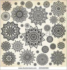 Mandala Round Ornament Pattern Vintage decorative elements Hand drawn background Islam, Arabic, Indian, ottoman motifs