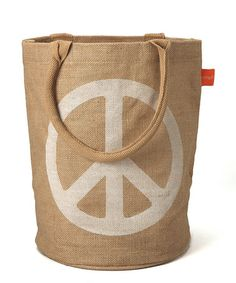 Take a look at this Peace Jute Bucket Bag by Bring It on #zulily today!