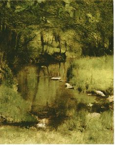 khnopff paintings | In Fosset, a Stream