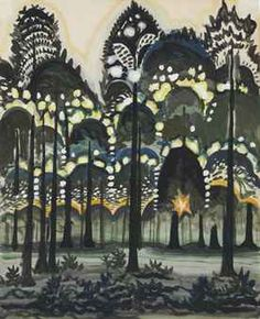 Sunrise in the Forest by Charles Burchfield, 1917