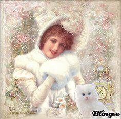 Vintage Snow Portrait/ animated glitter snow    http://bln.gs/b/289oul