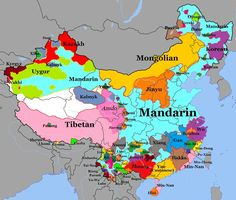 Map Info & Chart : Language Map Of China Language Map Of China By Mone_Starr At infographic.tv we provide handpicked collection of In China, China Map, China Language, European Map, Geography Map, Historical Maps, World History, Fun Facts, Pictures