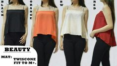 Beauty Blouse 55.000 Bahan twiscone + tile, kancing blkg leher fit to L