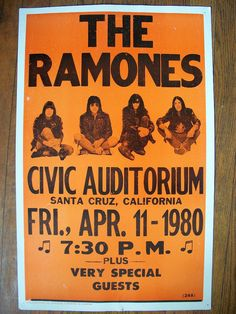 This magnet is made from a copy of the 1980 concert poster for a Ramones concert. Appearing at the Civic Auditorium in Santa Cruz, California on Friday April 11,1980. The Ramones formed their band in 1974 in Forest Hills, Queens and played over two thousand concerts. I printed this magnet on premium inkjet paper, laminated it and completely covered the back with magnetic sheeting. The magnet measures 3 1/2 x 2 1/4 and is shiny and durable.
