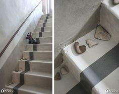 escalier beton peint en gris Escalier peint  17 Idées peinture escalier