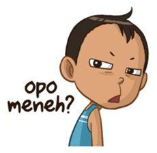 Emon Cah Mbeling by Gangsar Cute Cartoon Images, Cartoon Gifs, Cartoon Jokes, Funny Quotes Tumblr, Jokes Quotes, Memes, Cartoon Stickers, Cute Stickers, Emoji Pictures