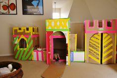 Cardboard Castle + Neon Tape = Awesome (via Julia's Bookbag)