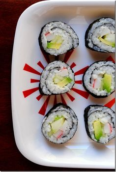 Learn how to make California Rolls at home with this step-by-step tutorial. | iowagirleats.com