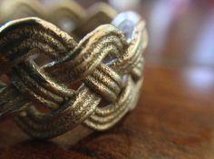 Turk's Head Knot Ring 4 Part X 10 Bight - Size 10 by frknsweetknots