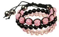 Black Onyx, Pink Cut Glass and Acrylic Beads and Stretch Bracelet Set Amazon Curated Collection. $35.00. The natural properties and composition of mined gemstones define the unique beauty of each piece. The image may show slight differences to the actual stone in color and texture.. Made in China