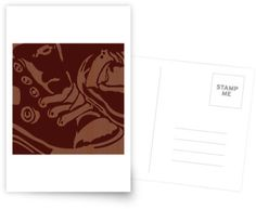 """Shoe Lines"" Postcard by George Barakoukakis. Dims: 100mmx150mm. 300gsm card with a satin finish. Superior writing surface for your words of wisdom. Discount of 20% on every order of 8+ cards"