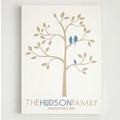 Couples names on the birds... thumbprints of guests at their wedding... Family Tree Wall Art