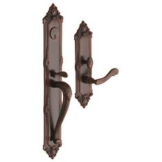 Baldwin 6950.RENT Kensington Right Hand Single Cylinder Mortise Handleset Trim S Venetian Bronze Mortise Lock Keyed Entry Single Cylinder