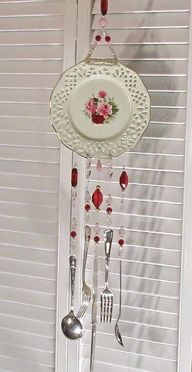 I saw a store selling windchimes made from old silver settings- i think i finally know what to do with some of the mismatched knick-knacks from my moms...
