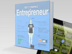 """Becoming an Entrepreneur"" Infographic Book by Anna Vital, via Kickstarter."