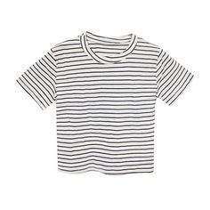 Aria T-shirt (1,450 THB) ❤ liked on Polyvore featuring tops, t-shirts, shirts, tees, white tee, white cotton tee, white cotton shirt, white t shirt and t shirts
