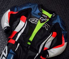 4SR RR Evo II Pearl Blue leather suit