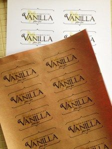 Free labels for homemade Vanilla
