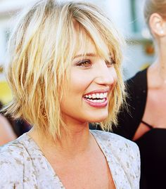 Short bob with longer fringe.