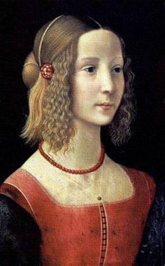 "Ghirlandaio, Domenico - Portrait of a Girl - Renaissance (Early Italian, ""Quattrocento"") - Tempera - Portrait - National Gallery - London, U..."