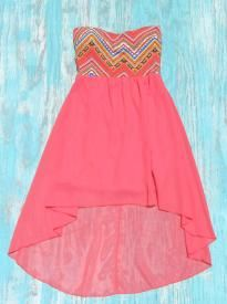 coral aztec cowgirl dress | Elusive Cowgirl $35.00