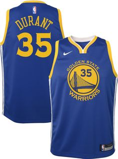 a9494382d1fac Nike Youth Golden State Warriors Kevin Durant  35 Royal Dri-FIT Swingman  Jersey