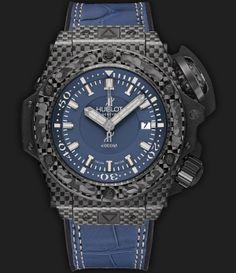 40ef99e01 Hublot King Power Oceanographic 4000 All Black Blue Diver watch from Hublot