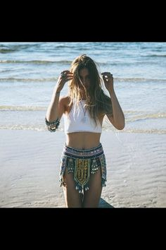 Love the outfit #knitcroptop #boho