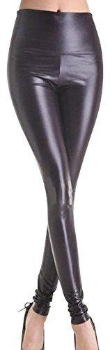 Sehr reizvoller Schwarz Faux-Leder Hauteng Gamaschen Größe 36-38 Pole Dancing Erotik