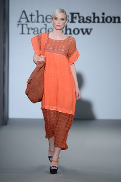 Eclectia:Elegant stylish coral linen dress. 100% Natural fabrics Greek Islands, Summer Collection, Fabrics, Coral, Spring Summer, Elegant, Stylish, Natural, Dresses