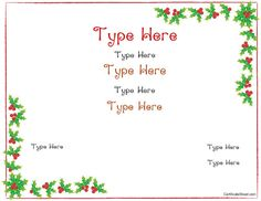 free gift certificate templates customizable and printable - Printable Christmas Gift Certificates Templates Free