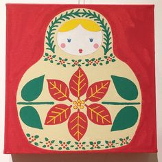 """サノマキコ on Instagram: """"『winter matryoshka』  #サノマキコ #イラスト #イラストレーター #illustration #illustrator #冬のイラスト  #マトリョーシカ #wintermatryoshka #冬のイラスト #クリスマス #ポインセチア  #柊…"""" Kids Rugs, Illustration, Instagram, Home Decor, Decoration Home, Kid Friendly Rugs, Room Decor, Illustrations, Home Interior Design"""
