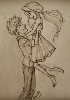 cartoon, couples, drawing, love, pencil