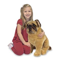 StuffedAnimals.com™: Stuffed Plush Toy Dogs: Melissa & Doug Pug Dog - Stuffed Plush