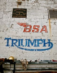 i want this to be the wall in my house one day. BSA & Triumph British motorcycles