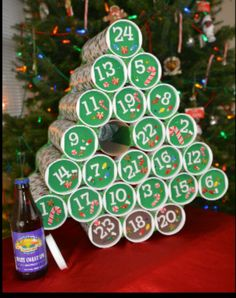 Pringle can beer advent calender!