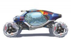 Concept Cars LA Auto Show Motorsports  Volkswagen 02 L 2008 LA Design Challenge: Volkswagen Bio Runner
