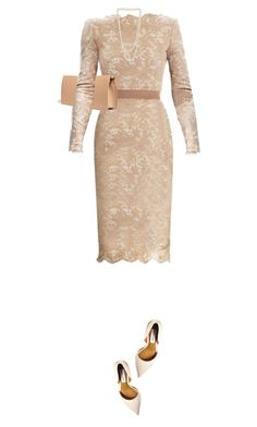 """Floral Lace Dress"" by daiscat ❤ liked on Polyvore featuring Steve Madden, Nina Ricci and Miss Selfridge"